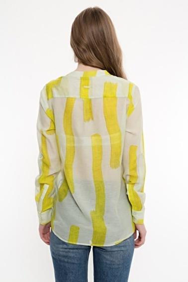 Silk and Cashmere Gömlek Sarı
